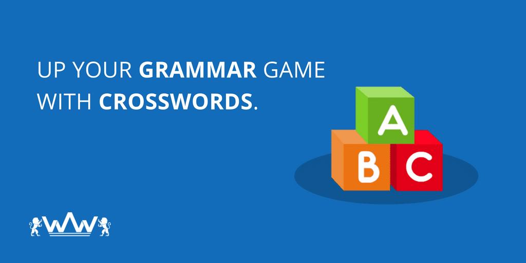Up Your Grammar Game with Crosswords